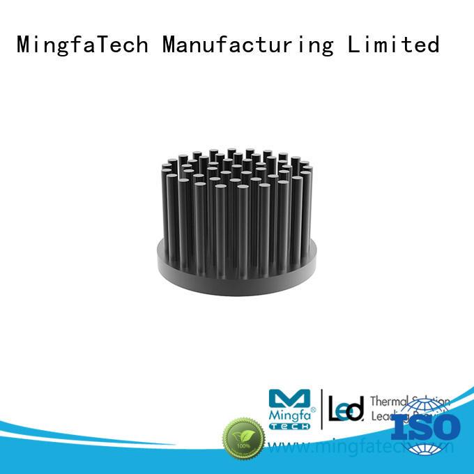Mingfa Tech round heatsink aluminium anodized for landscape