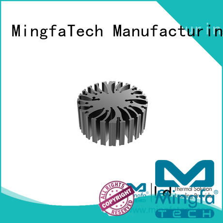 extruded Custom round cob led light cooling Mingfa Tech