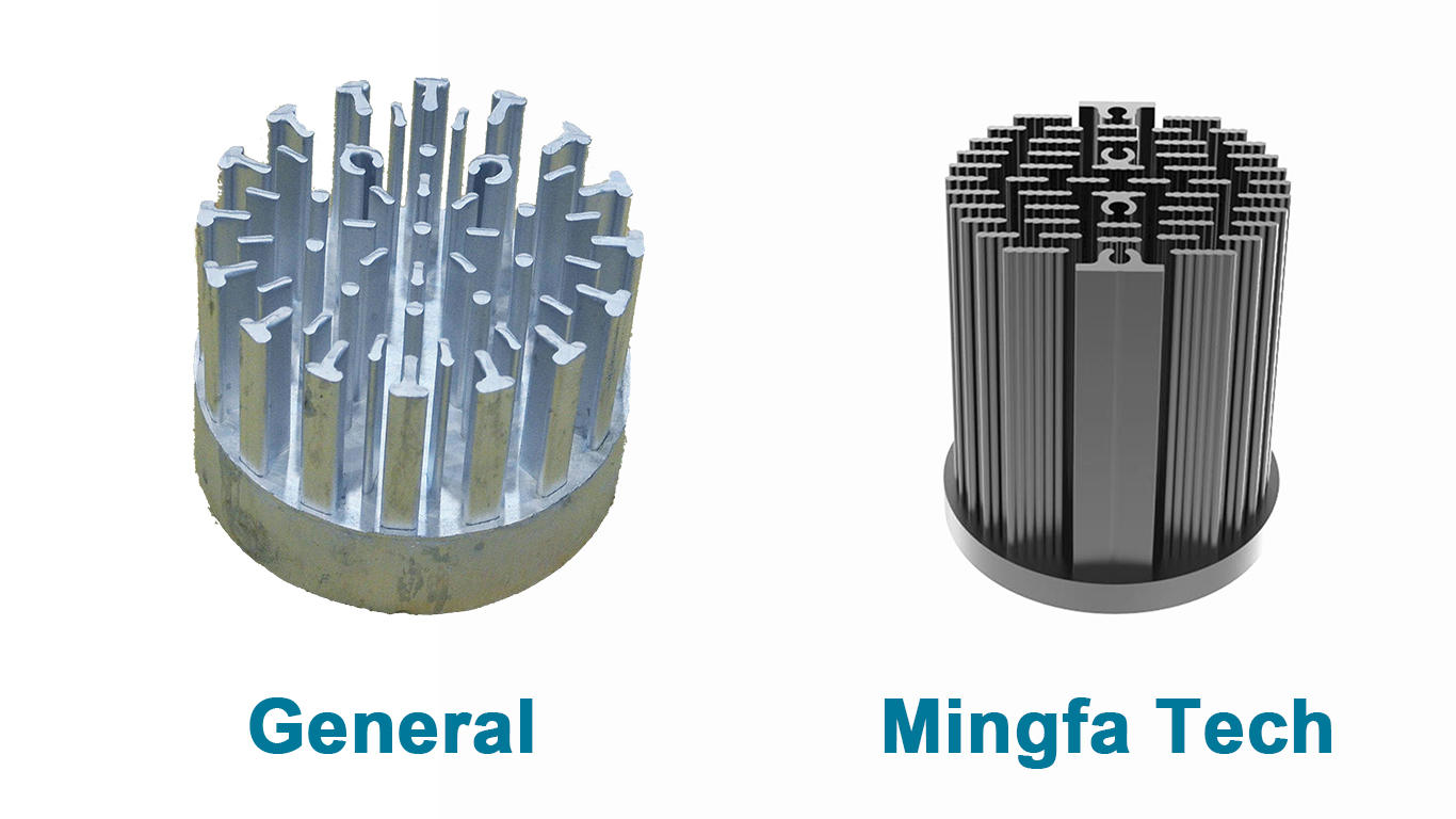 Mingfa Tech metal stamping large aluminum heat sink supplier for horticulture