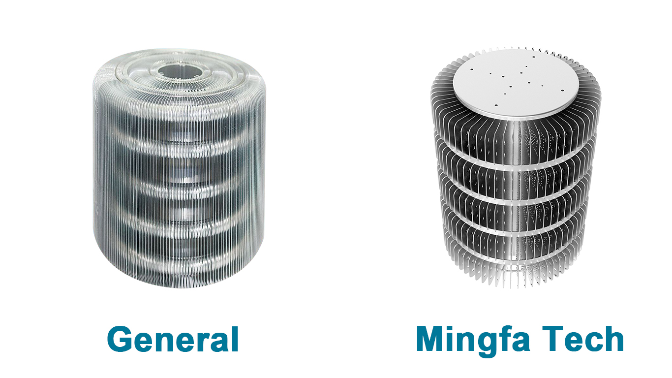 Mingfa Tech-HibayLED aluminum extrusion and stamping heat sink Manufacturer-1