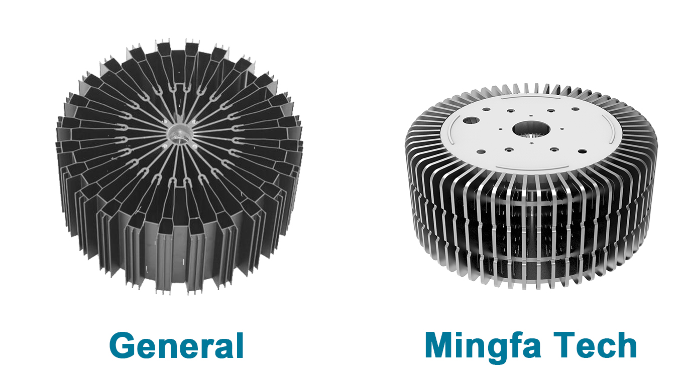 Mingfa Tech-Pin Heatsink, Hibayled-26088 Clear Anodized Fastening Led Coolers-1