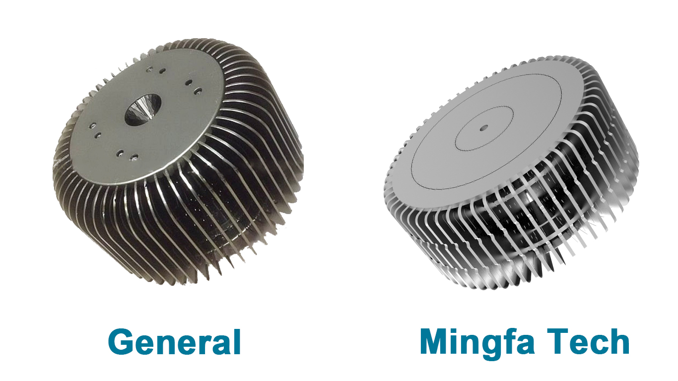 Mingfa Tech-Pin Heatsink, Hibayled-26088 Clear Anodized Fastening Led Coolers-2