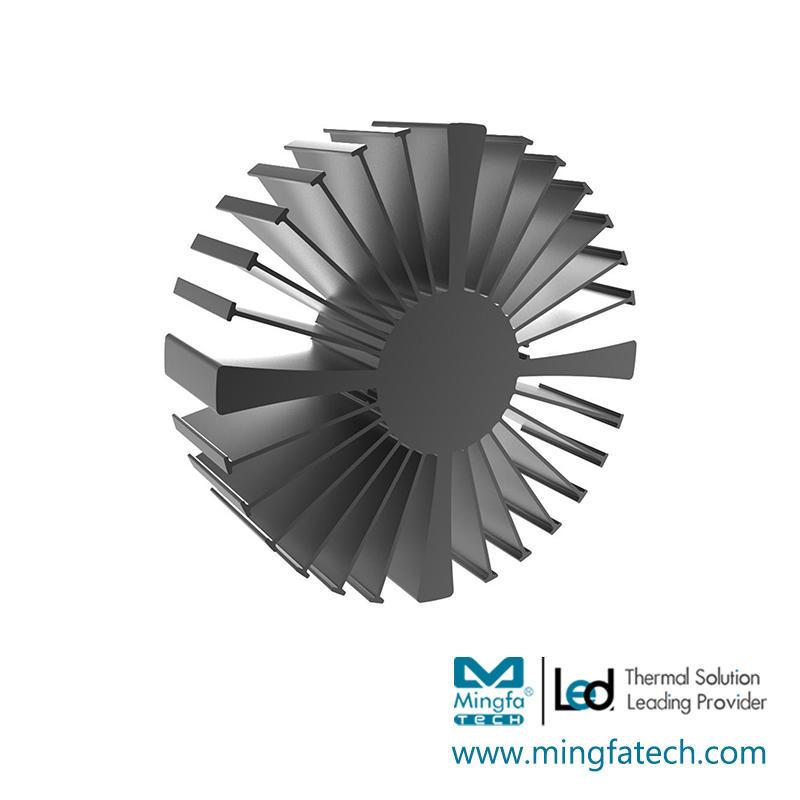 SimpoLED-16080/160100/160150 black anodized extruded heatsink