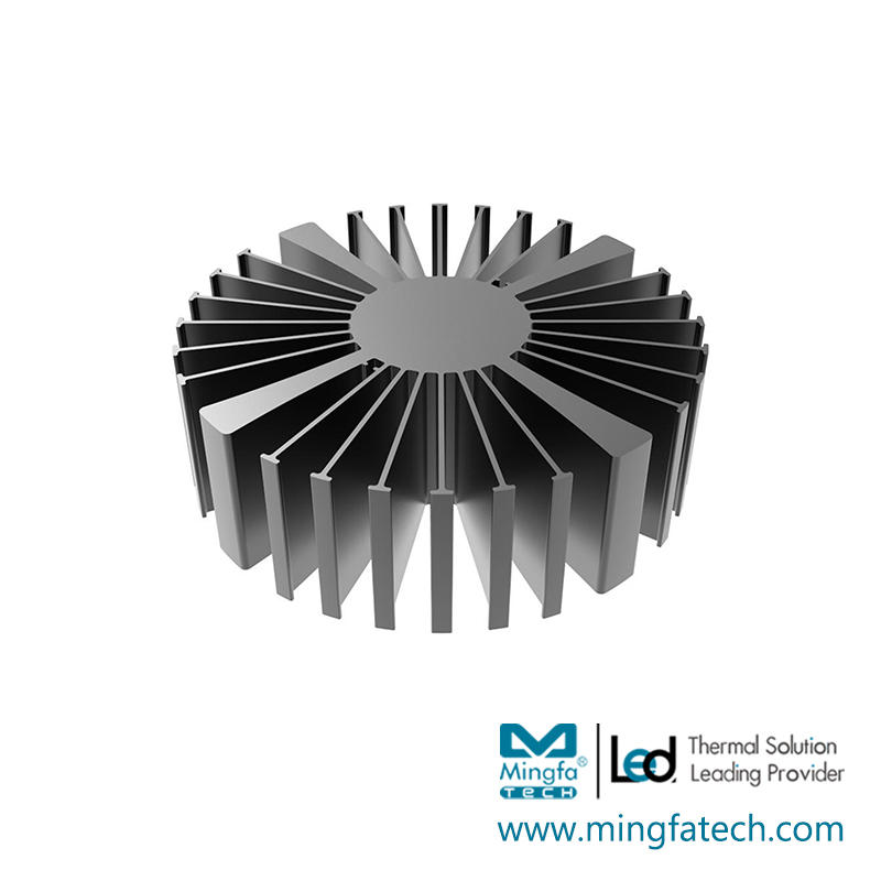 SimpoLED-16080/160100/160150 black anodized extruded heatsink