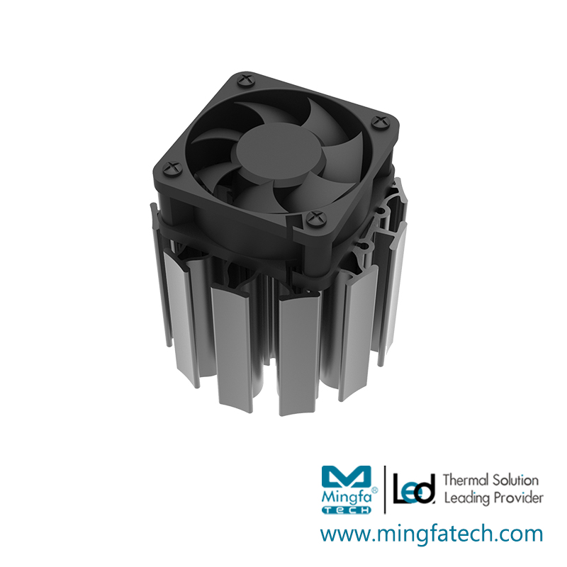Mingfa Tech-ActiLED-F7070 active cooling heatsink and fan-1