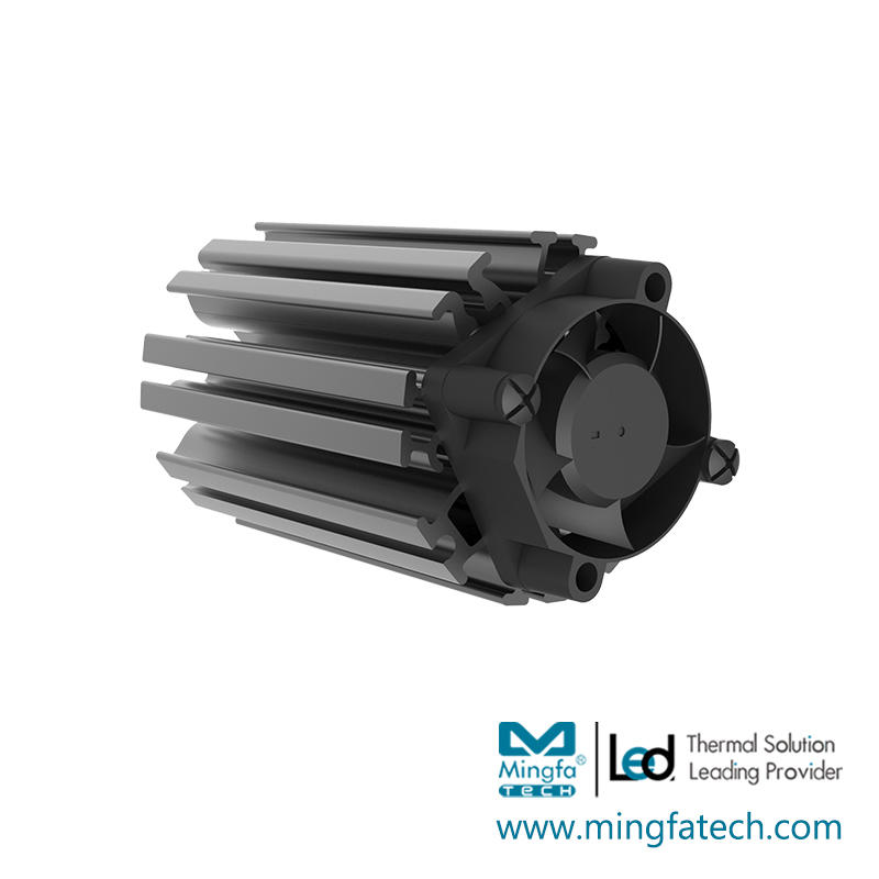ActiLED-F3865 active aluminum extruded heat sink