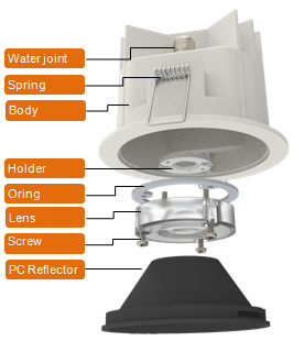 Mingfa Tech-Mingfa Tech Launches Waterproof Led Cooling Kit Downlight For Cob Module-soak