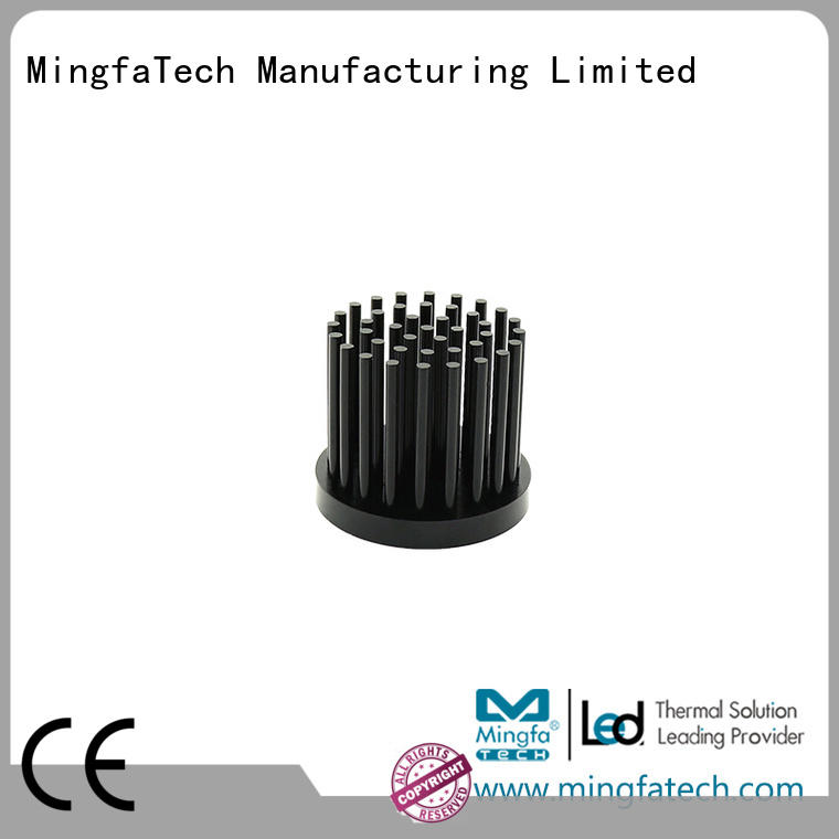 Mingfa Tech round heatsink aluminium anodized for retail