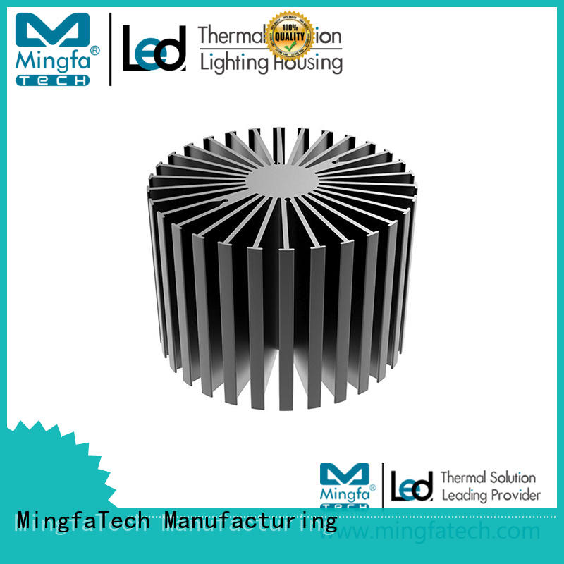 Mingfa Tech spinning big heatsink customize for cabinet