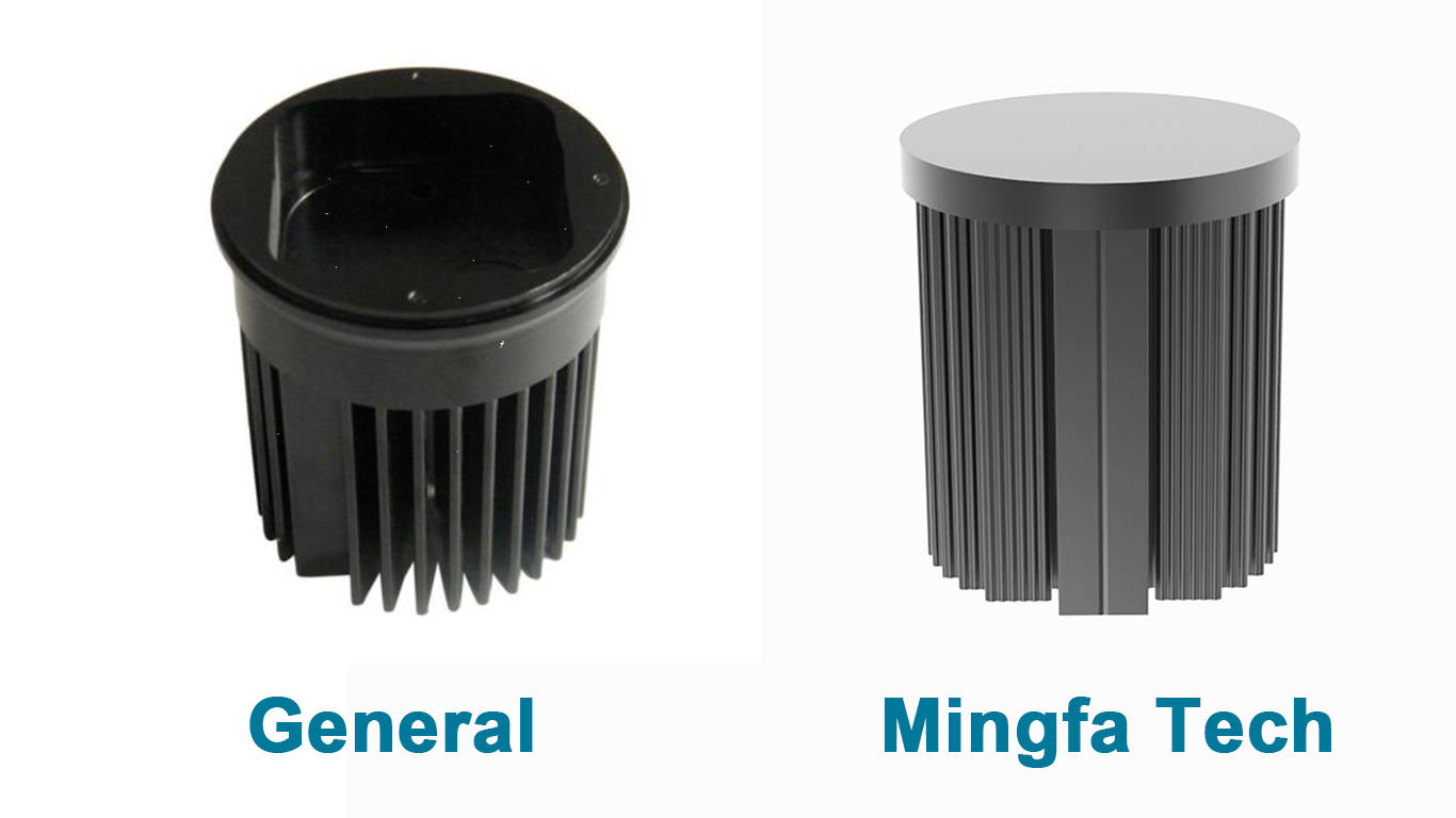 Mingfa Tech metal stamping large aluminum heat sink supplier for horticulture-3