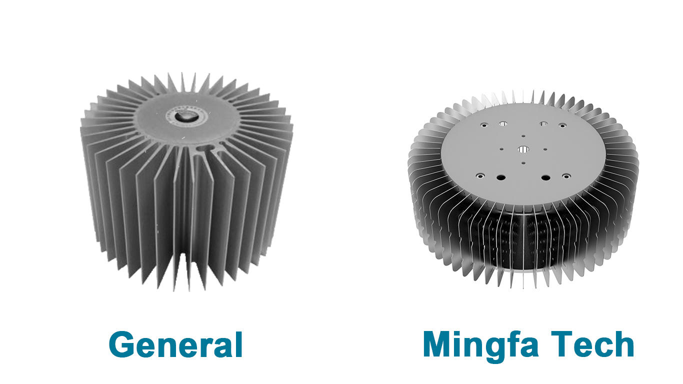 Mingfa Tech hibayled24088 extruded aluminum heatsink supplier for indoor-2