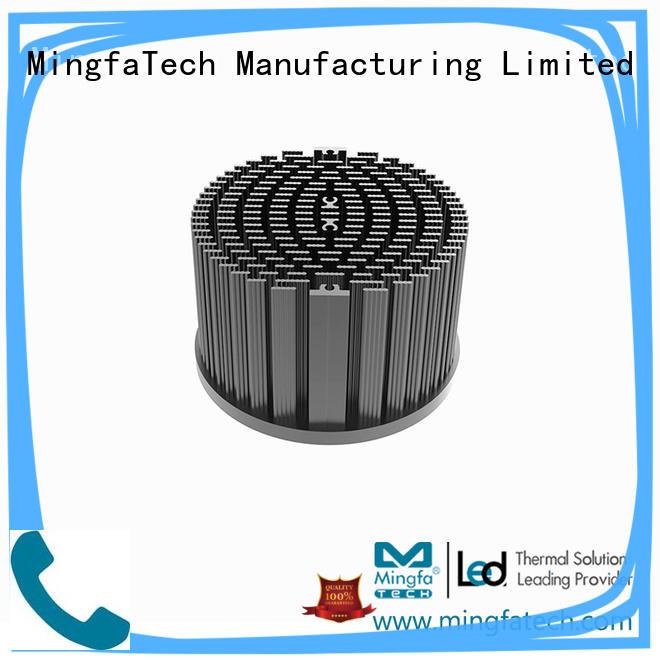light pinfin fin heat sink fin design Mingfa Tech manufacture