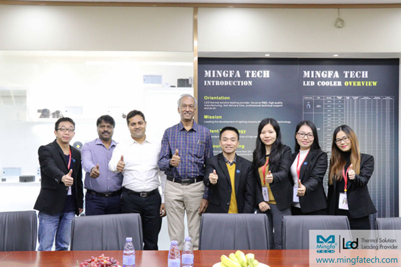 Mingfa Tech-Warmly welcome Indian customers to visit and cooperate with Mingfa