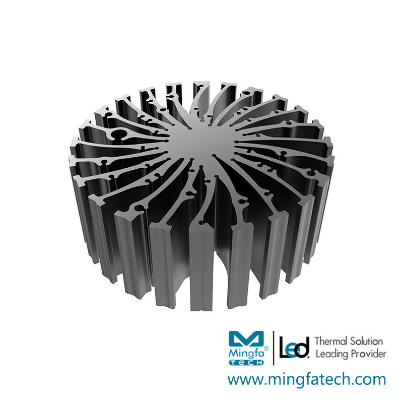 EtraLED-13020/13040/13050/13080 cylindrical extruded aluminum heatsink
