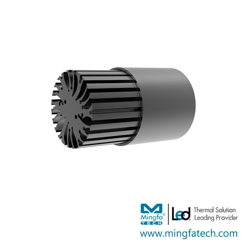 BuLED-30E/50E LED light accessory heat sink black anodized coolers