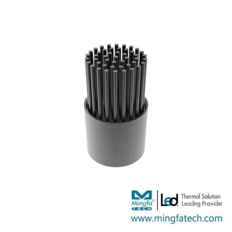 BuLED-30F/50F black anodized heatsink kit light fixture housing