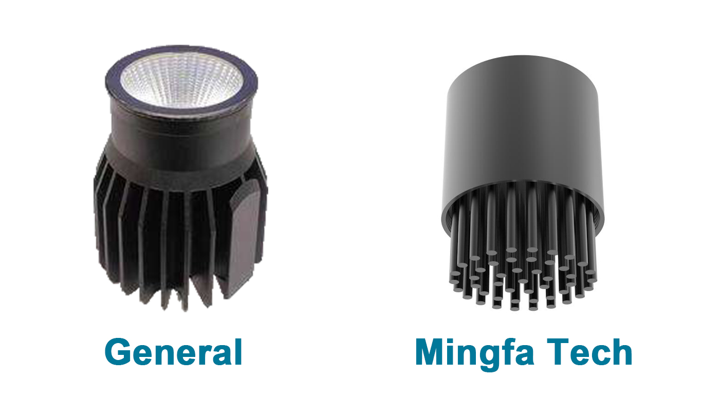 Mingfa Tech-Light Housing | BuLED-30F50F black anodized heatsink kit light kit-2