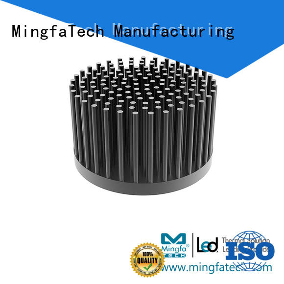 large circular heat sink coolers anodized for landscape