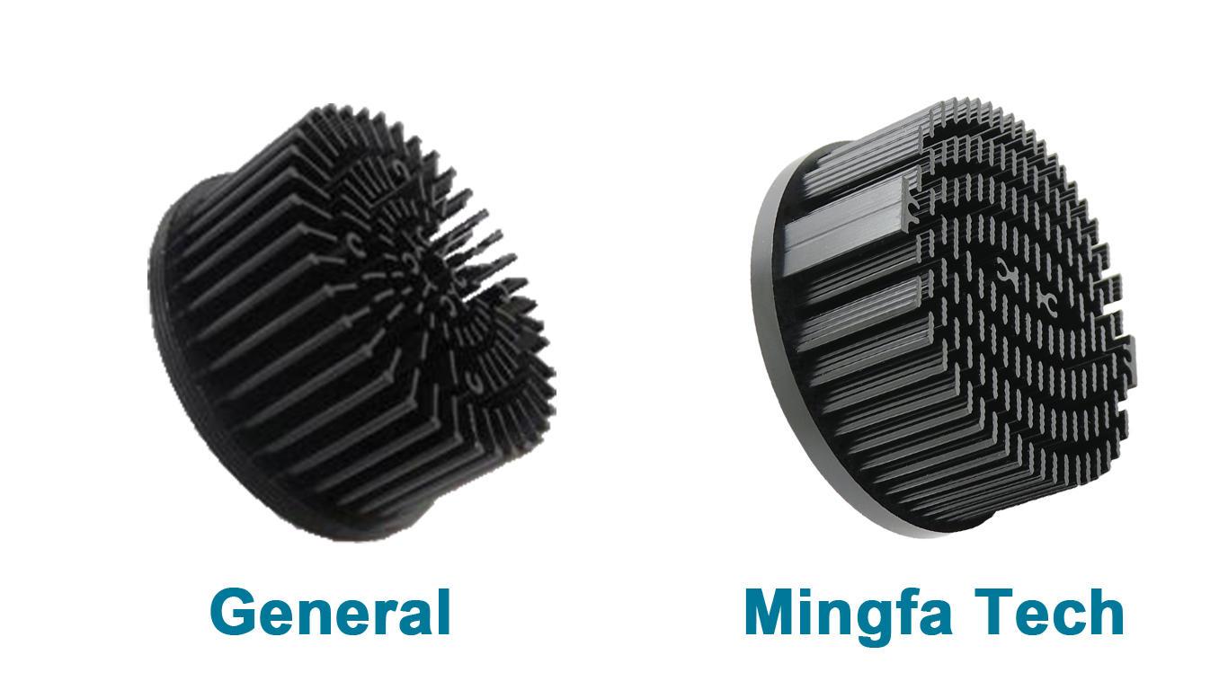 Mingfa Tech-Round Heat Sink Manufacture | Xled-70307050 Cold Forging Led Passive Heatsink-1
