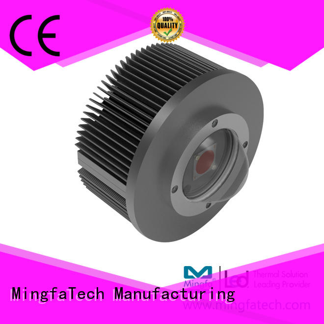Mingfa Tech anodized led heatsink module design for parking lot