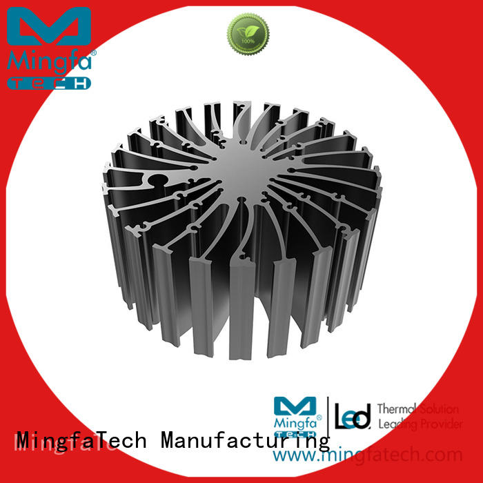 Mingfa Tech Brand cylindrical cooling extruded heat sink extruded
