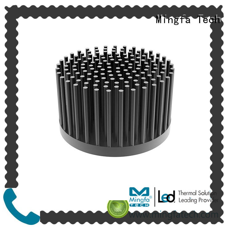 fin extruded thermal heat sink cob aluminium Mingfa Tech company