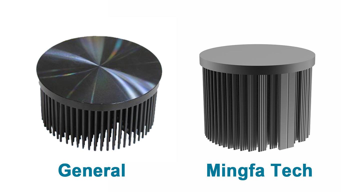 Mingfa Tech-Round Heat Sink Manufacture | Xled-70307050 Cold Forging Led Passive Heatsink-2