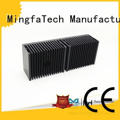 Mingfa Tech plating aluminum heatsinks design for retail