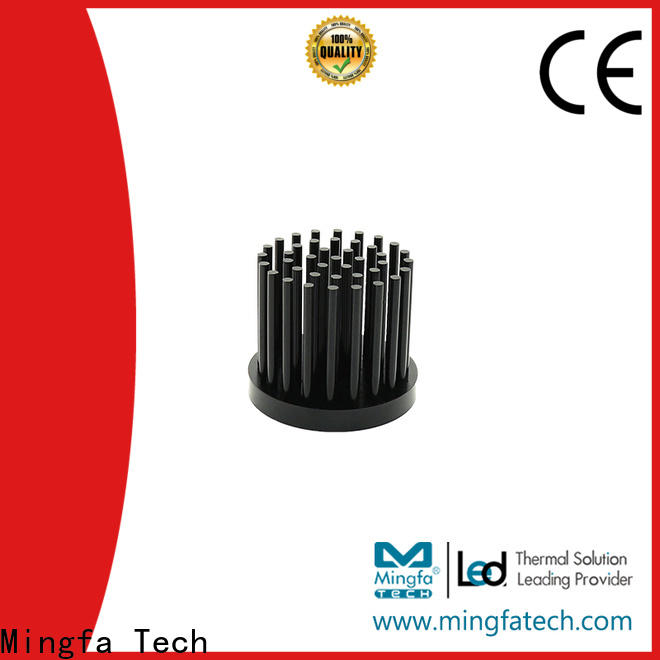 large circular heat sink round anodized for parking lot