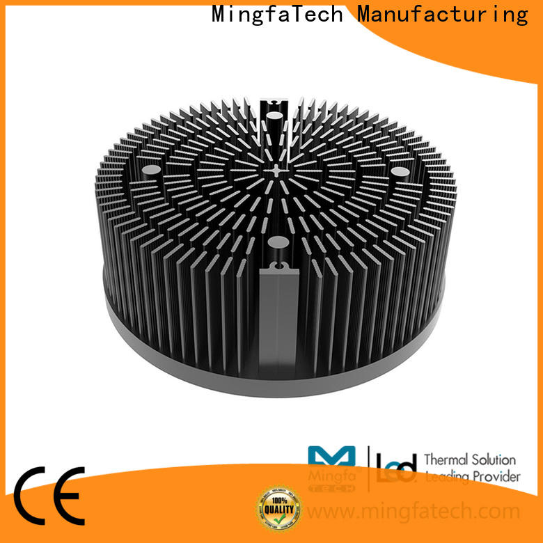Mingfa Tech plating large aluminum heat sink design for roadway